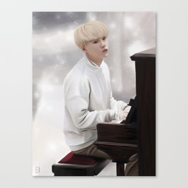 Suga - Piano - Bts Canvas Print