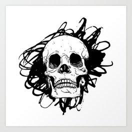 Skull, death Art Print