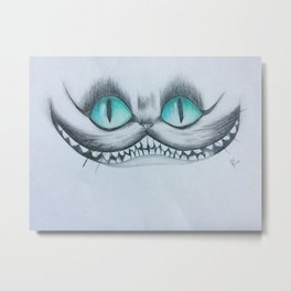 Chesire Cat Metal Print