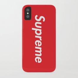 SUPREME BOX LOGO iPhone Case