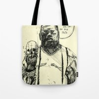 notorious big Tote Bags featuring Biggie Notorious by Maddison Bond