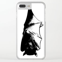 Drawing of Hanging Flying Fox Bat Clear iPhone Case