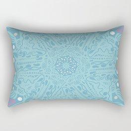 Crystallizing Snowflake Under a Microscope Rectangular Pillow