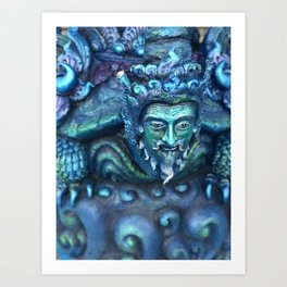 Blue Temple Thailand Art Print