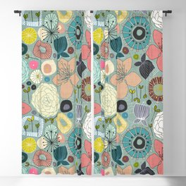 oriental blooms Blackout Curtain