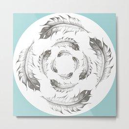 Feather Whirlpool Metal Print
