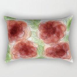 Burgundy Roses Rectangular Pillow