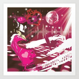 girl DJ Art Print