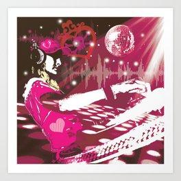 girl DJ Art Print