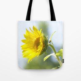 Ladybug and it's Sunflower Tote Bag