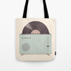 High Fidelity Toaster Tote Bag