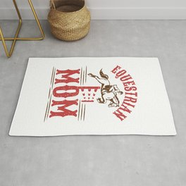 Equestrian Mom Horse Show Mother Mother's Day Rug