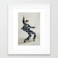 elvis presley Framed Art Prints featuring Elvis Presley by A Deniz Akerman