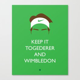 Roger Federer: Keep Calm Canvas Print