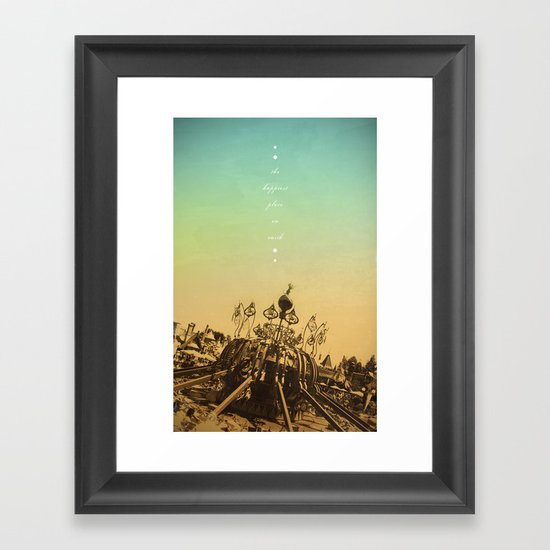 The Happiest Place On Earth Framed Art Print
