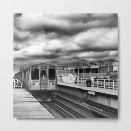 Here She Comes! Metal Print