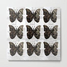 High Tech Butterflies Metal Print
