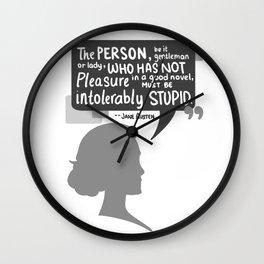 [Jane Austen] Book Lover Wall Clock