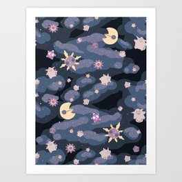 Cuties in Space Art Print