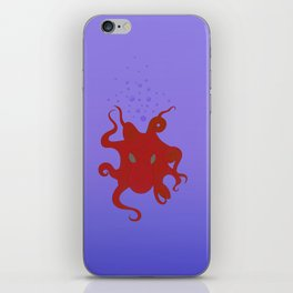 Octopus is coming out of the bubble iPhone Skin