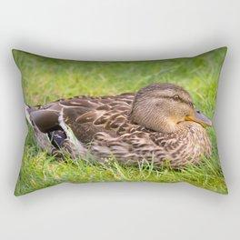 Female Mallard Duck Rectangular Pillow