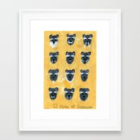 schnauzer Framed Art Prints featuring Schnauzer by Sonia Ku
