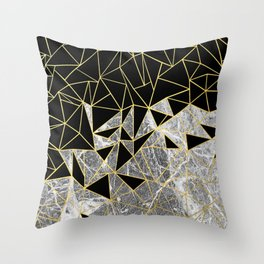 Marble Ab Throw Pillow