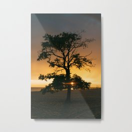 Sunset Silhouette in Grand Haven Metal Print