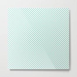 Beach Glass Polka Dots Metal Print