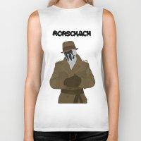 rorschach Biker Tanks featuring Rorschach by Design Sparks