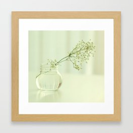 Live in rooms full of light Framed Art Print