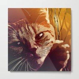 set your cat free vector art Metal Print