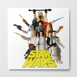 Star War Action Figures Poster - First 12 - Square Metal Print