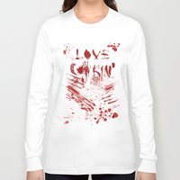 cooking Long Sleeve T-shirts featuring Love cooking by Poizon Poizon
