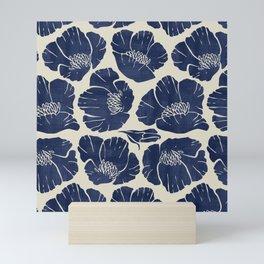 Poppies Indigo Mini Art Print