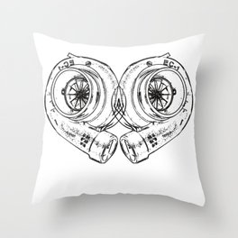 Turbocharger Heart Boost Ladedruck Tuning Turbocharge Throw Pillow
