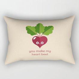 You Make My Heart Beet Rectangular Pillow
