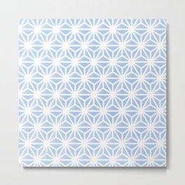 Japanese Hemp Leaves Pattern Metal Print
