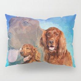 Irish Setter Dogs collage Pillow Sham