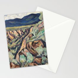 New Mexico Landscape by Marsden Hartley Stationery Cards
