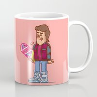 marty mcfly Mugs featuring Marty McFly by Rudi Gundersen