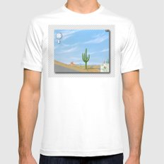 Google Street View White Mens Fitted Tee MEDIUM