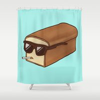 bread Shower Curtains featuring Cool Bread by Josh LaFayette