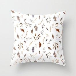 """Dried flowers"" white Throw Pillow"