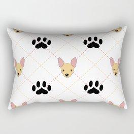 Chihuahua Paw Print Pattern Rectangular Pillow