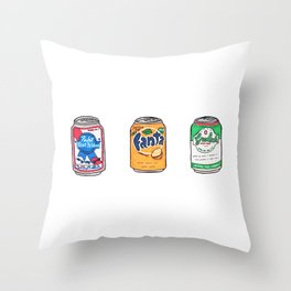 Tsites cannes - Little cans Throw Pillow