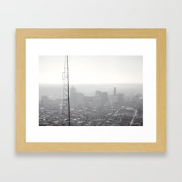 Approach from the North Framed Art Print