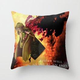 Dark Souls 2 Emerald Herald - Shanalotte  Tribute Throw Pillow