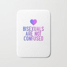 Bisexuals Are Not Confused Heart Flag Bi Pride LGBT Cool Humor Design Pun Gift Bath Mat