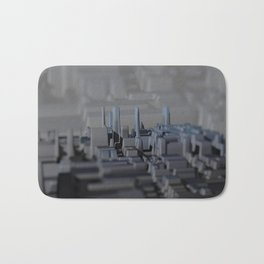 Urban technology buildings space aerial view Bath Mat